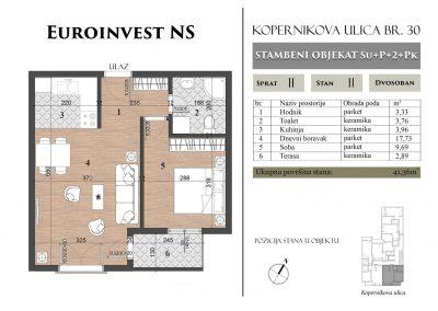 Stan 11 – 41,36m2 – cena 1.400,00-EURA/m2 sa uračunatim PDV-om