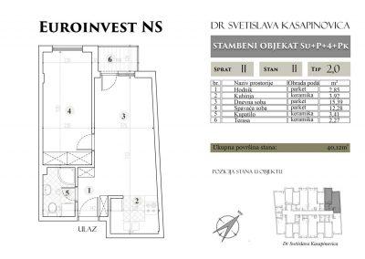 Stan 11 – 40.12m2 – cena 1.400,00-EURA/m2 sa uračunatim PDV-om