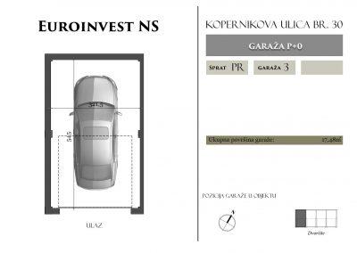 Garaža 3 – 17,48m2 – cena 15.000,00-EURA sa uračunatim PDV-om