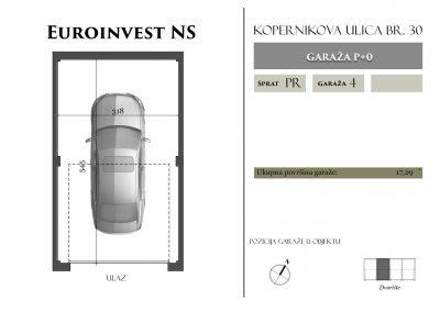 Garaža 4 – 17,29m2 – cena 15.000,00-EURA sa uračunatim PDV-om