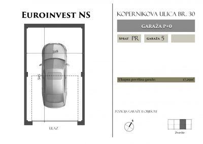 Garaža 5 – 17,29m2 – cena 15.000,00-EURA sa uračunatim PDV-om