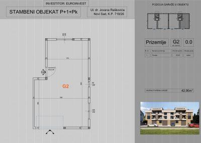Garaža G2 42,90 m2